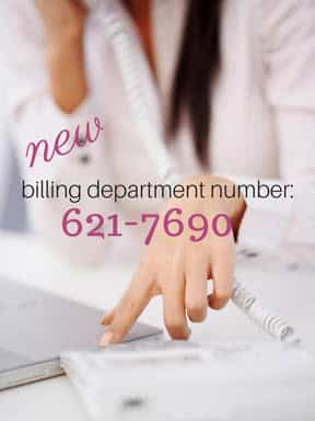 New Billing Dept Number