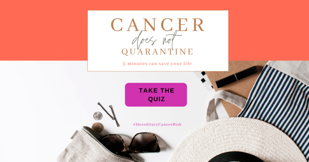 Cancer does not quarantine - 5 minutes can save your life - Take the quiz