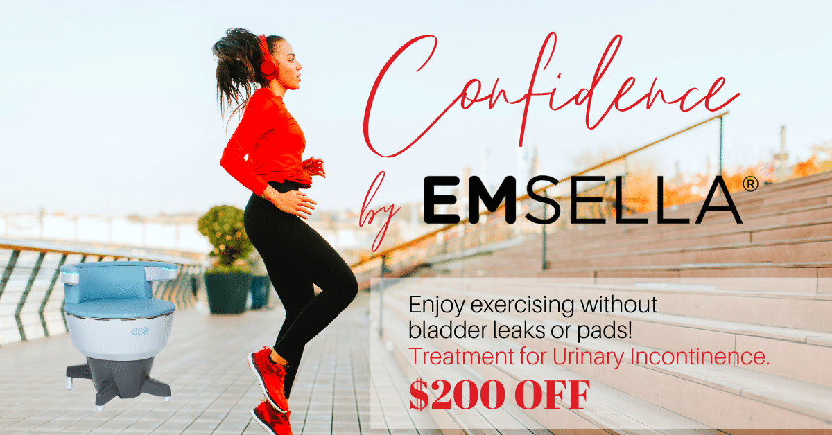 1200 x 628 Emsella exercise CONFIDENCE $200 OFF APRIL2021